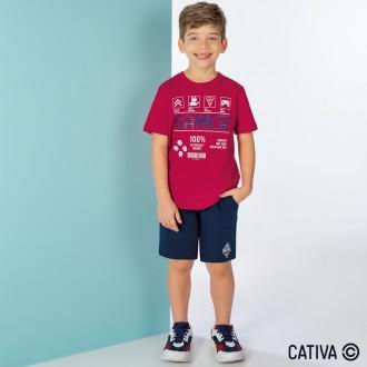 Imagem - (C31978) Camiseta Meia Malha Infantil Masculino - Cativa ref: C31978