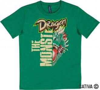 Imagem - (C31982) Camiseta Meia Malha Infantil Masculino - Cativa ref: C31982