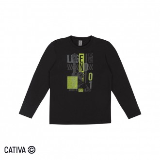 Imagem - (C60381) Camiseta Meia Malha Juvenil Cativa ref: C60381