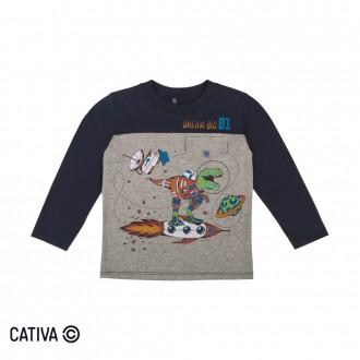 Imagem - (C60394) Camiseta Meia Malha Masculina Cativa ref: C60394