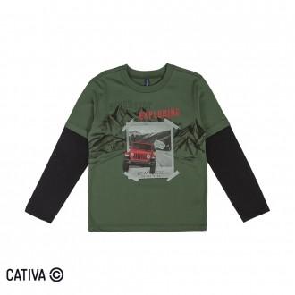 Imagem - (C60396) Camiseta Infantil Masculina Cativa ref: C60396