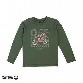 Imagem - (C60398) Camiseta Meia Malha Masculina Cativa - 10656_7910-VERDE