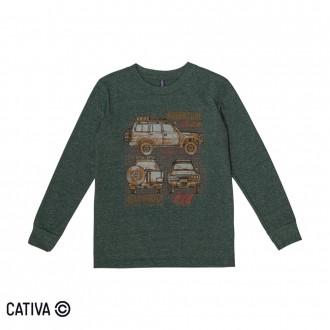 Imagem - (C60401) Camiseta Meia Malha Masculino Cativa ref: C60401