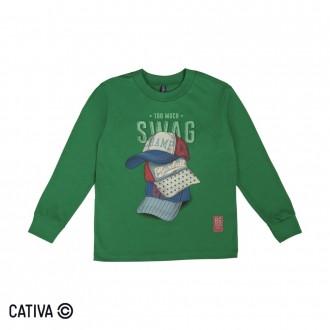 Imagem - (C60402) Camiseta Meia Malha Masculino Cativa ref: C60402