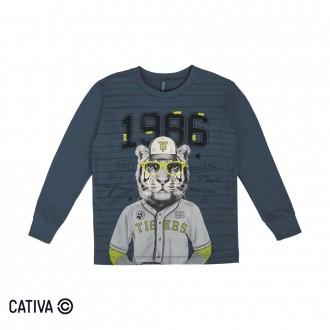 Imagem - (C60405) Camiseta Meia Malha Masculino Cativa ref: C60405