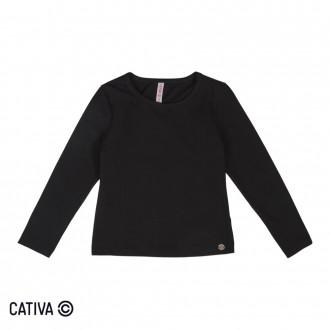 Imagem - (C60419) Blusa de cotton Feminino Infantil Cativa ref: C60419