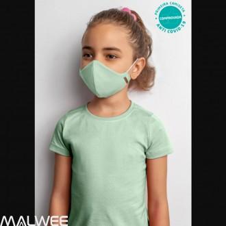Kit De Mascara Viroblock Infantil Malwee Kids Rosa e Verde