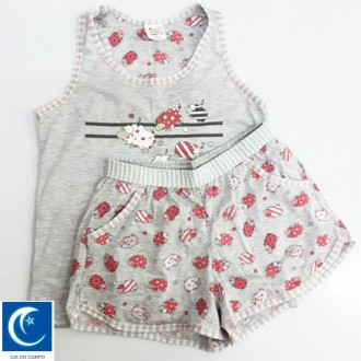 Imagem - (4592) Conjunto de babydoll nadador cartoon - Cia do corpo ref: 4592