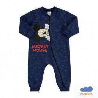 Imagem - (D2240) Macacão Moletom Mickey Infantil Maglian ref: D2240