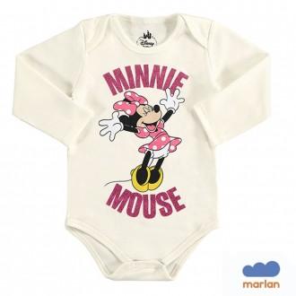Imagem - (D2267) Body Feminino Sudiene Feminino Infantil Miney Disney - Marlan - 494238_BG0016-MARFIM