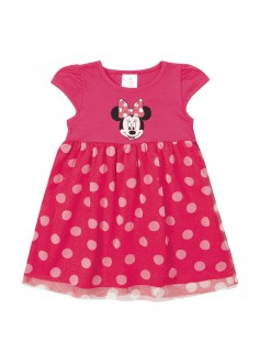 Imagem - (D4198) Vestido De Cotton Minnie Com Tule - MARLAN ref: D4198
