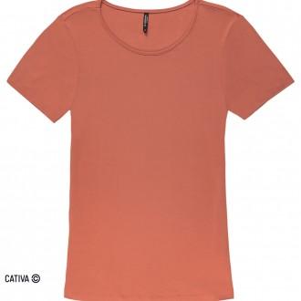 Imagem - (H31128) Blusa básica de viscose - CATIVA; ref: H31128