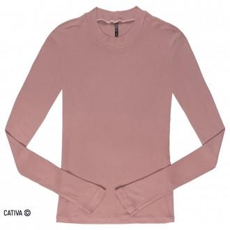 Imagem - (H60194) Blusa básica canelada - CATIVA ref: H60194