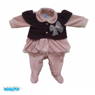Imagem - (5451) Macacão Feminino Plush Gola Maglian ref: 5451