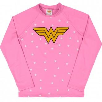 Imagem - (M4089) Camiseta Trulife UV e DRY Mulher Maravilha Feminino Infantil Marlan ref: M4089