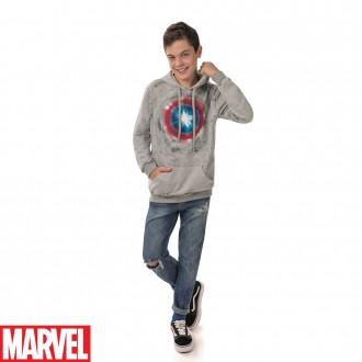Imagem - (MV10015) Blusão de Moletom C/ Capuz Masculino Marvel  Cativa ref: MV10015