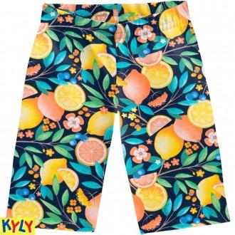 Imagem - (107.622) Bermuda Cotton Estampada Feminino Infantil - Kyly ref: 107.622