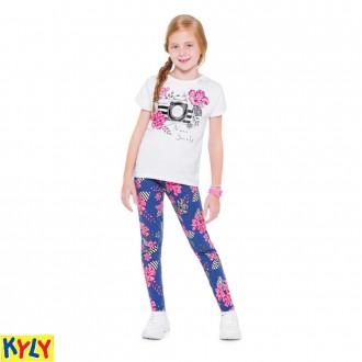 Imagem - (110.255) Conjunto Blusa Com Legging Feminino Juvenil - Kyly - 1031964_0001-BRANCO