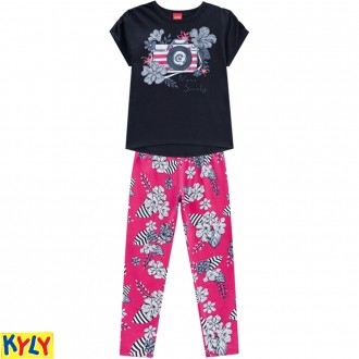 Imagem - (110.255) Conjunto Blusa Com Legging Feminino Juvenil - Kyly ref: 110.255