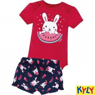 Imagem - (110.410) Conjunto de Body Infantil Feminino Kyly ref: 110.410
