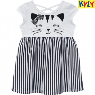 Imagem - (110.436) Vestido Malha Feminino Infantil Kyly ref: 110.436