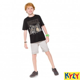 Imagem - (110.554) Camiseta Juvenil Masculina Meia Malha Kyly ref: 110.554