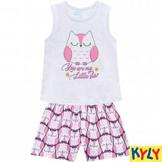 Imagem - (110.572) Conjunto Pijama Feminino Infantil Kyly ref: 110.572
