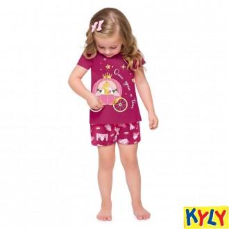 Imagem - (110.574) Conjunto Pijama Feminino Infantil Kyly ref: 110.574