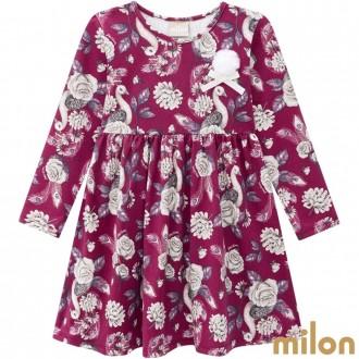 Imagem - (12.956) Vestido Manga Longa Cotton Feminino Infantil Kyly - Milon ref: 12.956
