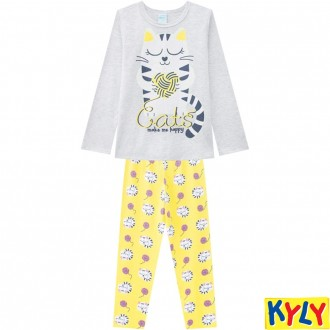 Imagem - (207.533) Conjunto Pijama Brilha no Escuro Feminino Juvenil Kyly ref: 207.533