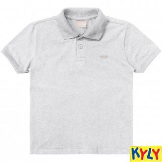 Imagem - (8322 1/3) Camiseta Polo Basica Masculina Infantil Milon - Kyly ref: 8322 1/3