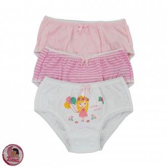 Imagem - (144) Kit C/03 Calcinha Infantil SORTIDA Luna ref: 144