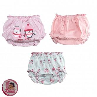 Imagem - (033) Kit com 3 Calcinha Infantil Luna ref: 033