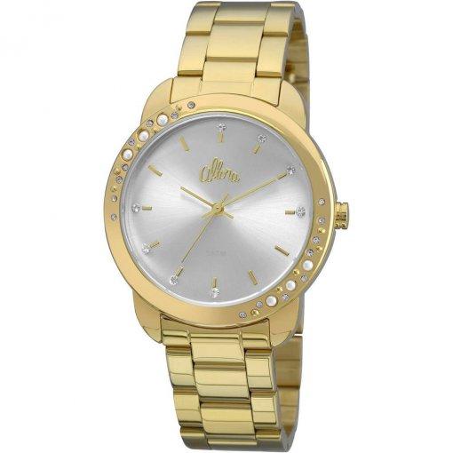 d0569f17bc6 Relógio Allora Feminino Analógico Pérolas e Cristais AL2035FBS 4K Dourado
