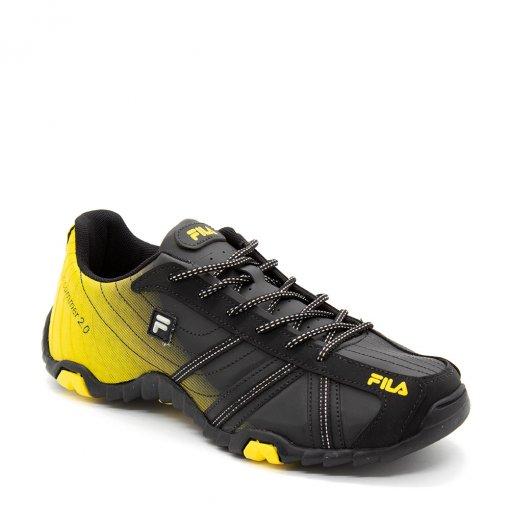 3518812e52f Tênis Slant Summer Fila 2.0 Masculino Preto Amarelo