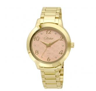 1a780b9fb7f Imagem - Relógio Condor Feminino Bracelete Dourado CO2036KSU 4X cód  088028