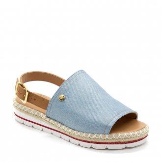 65c3eee61 Imagem - Sandália Vizzano Espadrille Anabela Flatform Jeans cód: 084394