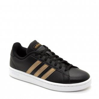 e509eda768e13 Imagem - Tênis Adidas Casual Unissex Grand Court Preto cód  087444
