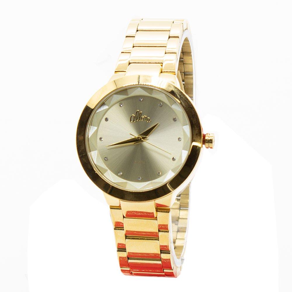 3eea60a90e55d Relógio Allora Feminino Analógico Strass AL2035GKQ K4K - Zuazen