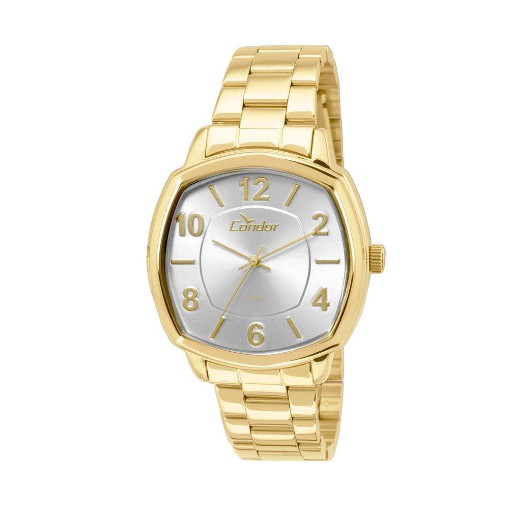 f5eef3f7514 Relógio Condor Analógico Feminino Bracelete CO2035KOR 4K Dourado