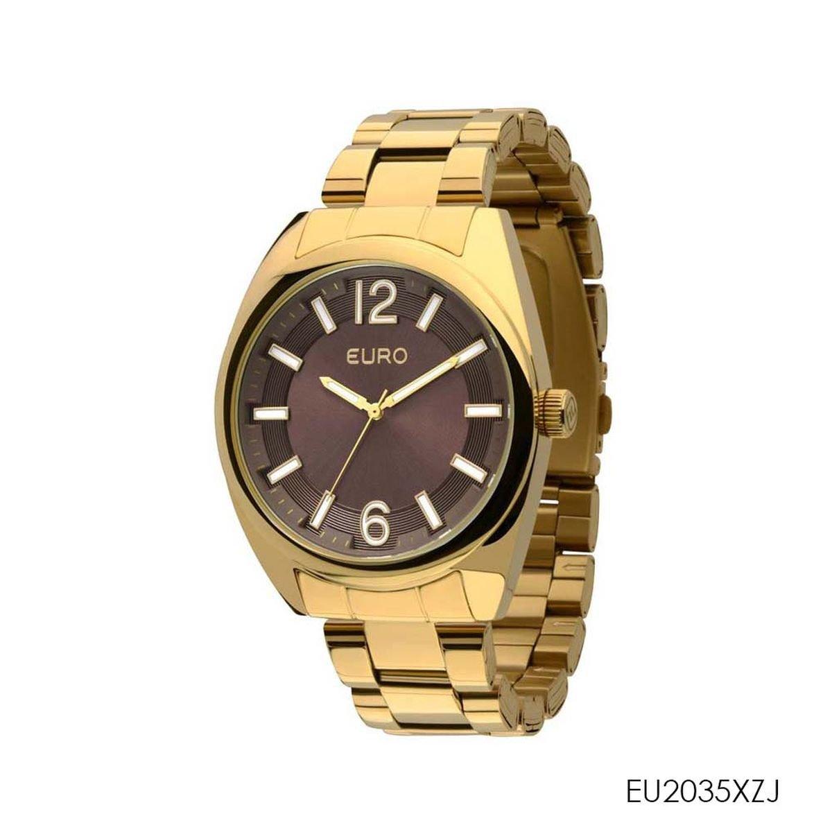 c7d1689e7d4 Relógio Feminino Euro Analógico EU2035XZJ4M Dourado - Zuazen