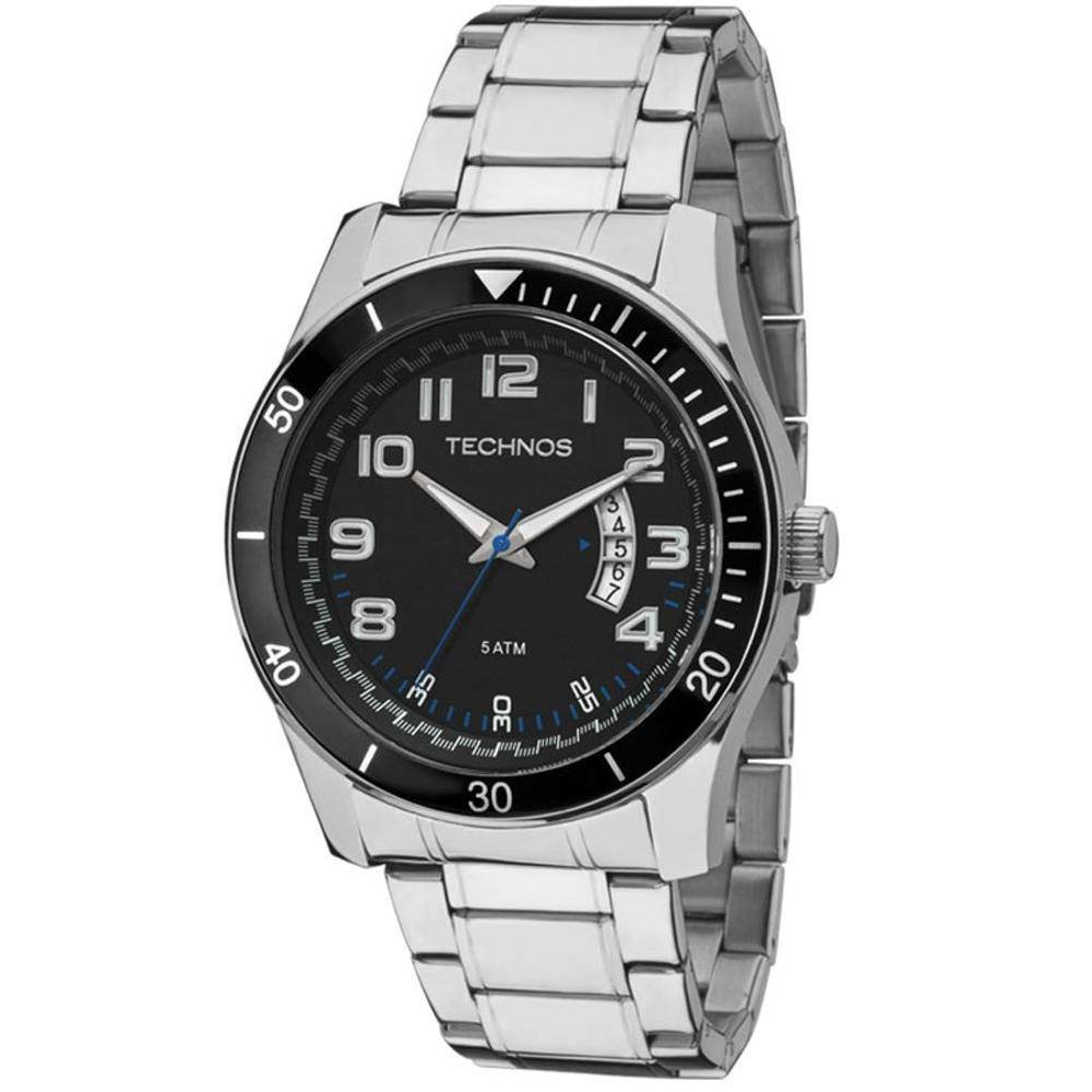 Relógio Technos Masculino 2115KSL 1P Prata - Zuazen 8a987ab303