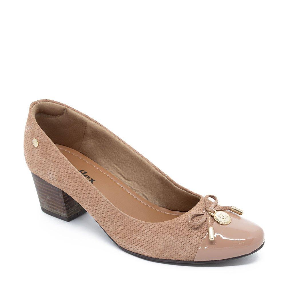 7902baa51 Sapato Scarpin Usaflex Q6640 Caramelo - zauzen