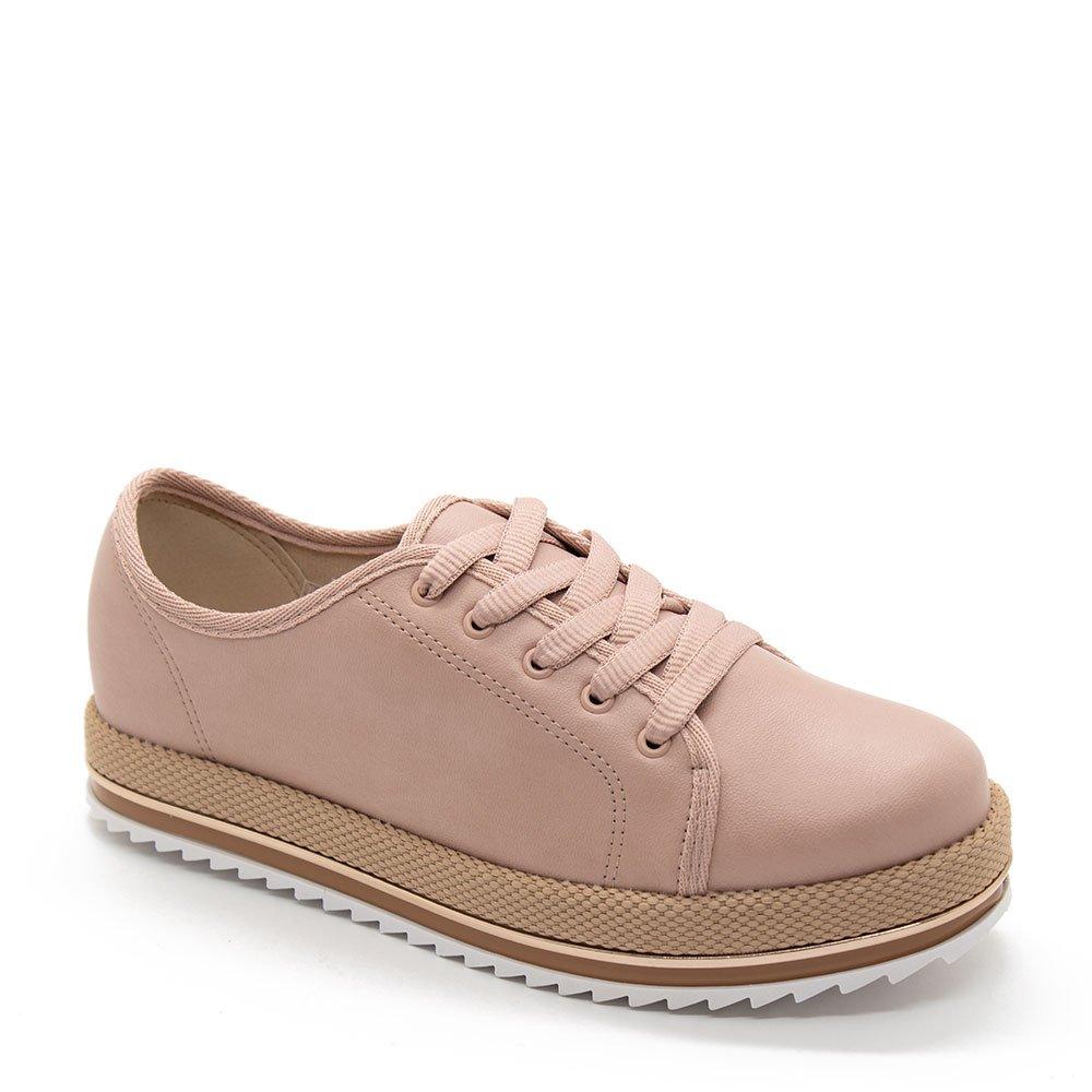 91cd1c001 Sapato Oxford Beira Rio Casual Tratorado Rosa - Zuazen