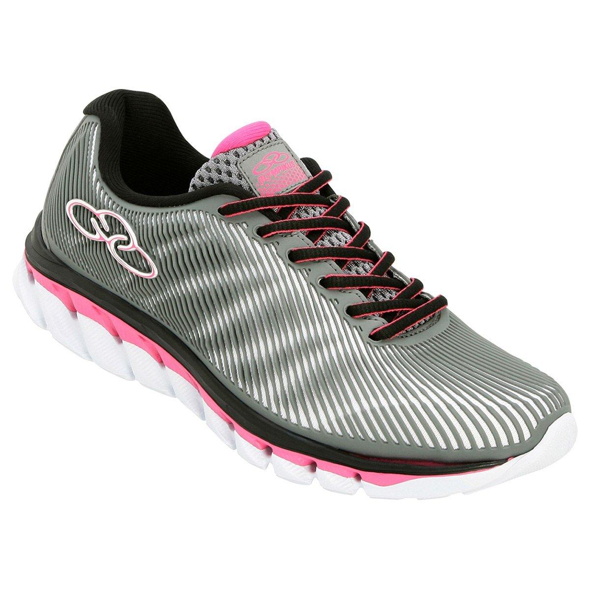 ca95ecaf18 Tênis Olympikus Perfect Feminino Cinza Pink - Zuazen